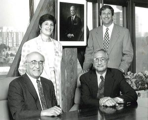 Aviva Sapers and Ed Wallack with Bill Sapers and Norman Wallack