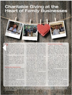Charitable Giving is an important part of our business philosophy