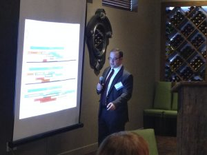 Expert Stacy H. Barrow from Proskauer during his presentation at the Sapers & Wallack Health Care Reform luncheon